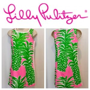 ⬇️ LILLY PULITZER Green Pink Sleeveless Dress